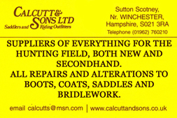 Calcutt Advert