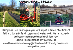 Hampshire Field Fencing Advert