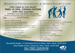 Medstead Physio advert
